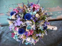 Topiary Wedding - stunning dried flower bride u0027s bouquet with birch handle converts