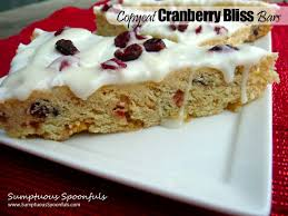 copycat starbucks cranberry bliss bars sumptuous spoonfuls