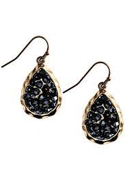 cd earrings fashion hematitie teardrop earrings from seattle by