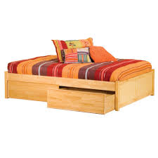 full size platform bed with storage with wooden storage bed and