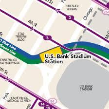 map us bank stadium u s bank stadium station metro transit