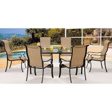 Outdoor Dining Room Sets Brigantine 7 Piece Glass Top Dining Set Brigdn7pc Gls