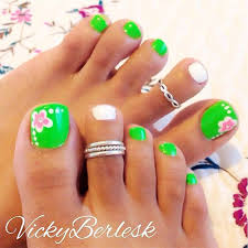toe nail designs for spring how you can do it at home pictures