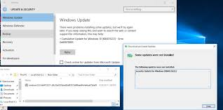 manually update windows updates failed to install