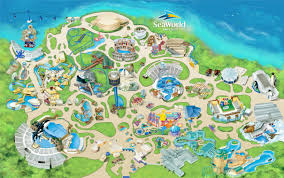 San Diego Downtown Map by Manta Roller Coaster Seaworld San Diego