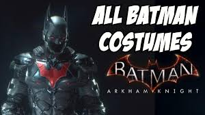 batman costumes all batman arkham knight costumes anime classic series justice