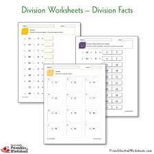 division worksheets printables u0026 worksheets