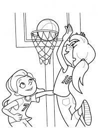 basketball coloring pages girls playing basketball coloringstar