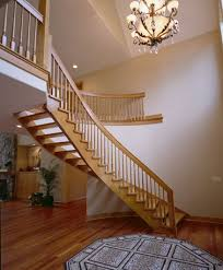 Free Standing Stairs Design Custom Wood Staircases Red Oak Stairs Contemporary Stair Design