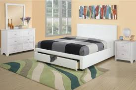 Best Buy Bed Frames White Faux Leather Bed F9314 Best Buy Furniture Direct
