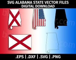 Flag Of Alabama Alabama State Flag Svg Vector Clip Art Cutting Files For
