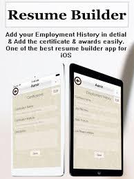 Best Resume Builder App Resume Builder Plus Cv Maker And Resume Designer On The App Store