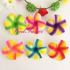 plumeria flower 100pcs 7cm multicolor handmade pe foam frangipani hair flowers