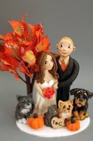 fall wedding cake toppers wedding cake topper birde and groom silhouette with two cats pets