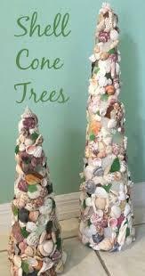 make beautiful cone seashell christmas trees great info