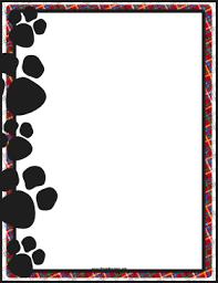 black paw print border png