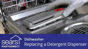 Dishwasher Not Using Soap Replacing The Detergent Dispenser On A Dishwasher Youtube
