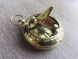 antique necklace pendants images Brass sundial compass necklace pendant old vintage antique jpg