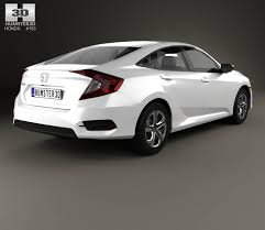 honda car models honda civic lx 2016 3d model hum3d