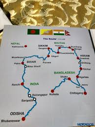 Nepal India Map by Bangladesh Bhutan India Nepal Friendship Rally 2015 Day 1 Report