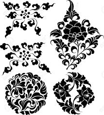 decorative floral ornament design royalty free cliparts vectors