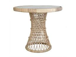 Glass Side Table Hk Living Rotan Coffee Table Natural With Glass Top Living And Co