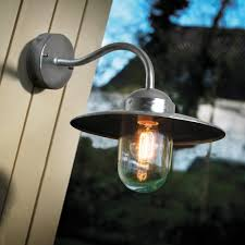 lighting nordlux luxembourg galvanised steel outdoor wall light