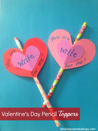 homemade valentine ideas diy valentine u0027s day pencil toppers