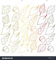 autumn leaf acorn outlines vector clip stock vector 220570960