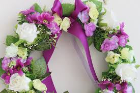artificial flowers for home decoration purple rose artificial flowers wreath garland door decoration