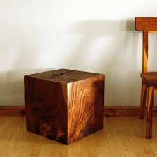 wood cube end table sustainable monkey pod wood cube end table 18 x 18 x 18