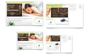 day spa postcard template word u0026 publisher