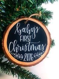 baby s ornament tree slices ornament