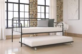 dhp furniture wallace metal daybed with trundle