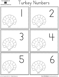 turkey number cards a to z teacher stuff printable pages and