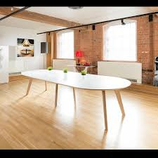Large Oval Boardroom Table 1400x2900 Extending Oval Boardroom Dining Table Oak Leg White