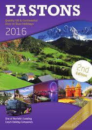 eastons 2016 quality uk u0026 continental door to door holidays 2nd