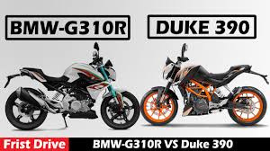 bmw motocross bike bmw g310r vs ktm duke 390 motorcycle first drive youtube