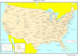 united states map with all the states and cities in map of the united states showing all world maps