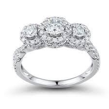 bjs wedding rings 1 25 ct t w diamond promise forever engagement ring in 14k
