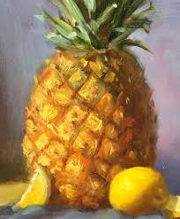 saatchi art pineapple and lemons painting original oil painting