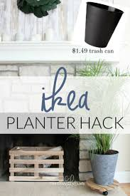 ikea planter hack from a cheap trash can the crazy craft lady