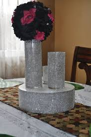 Vase Table Centerpiece Ideas Bling Wedding Centerpieces Rhinestone Bling Vase For Wedding