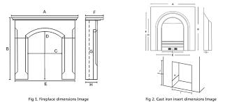 Standard Fireplace Dimensions by How To Measure A Fireplace Victorian Fireplace Store