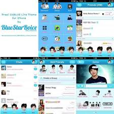 theme line blue my blue love tutorial how to change line theme with cnblue