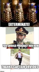 Thanks Captain Obvious Meme - the doctor and the captain imgflip
