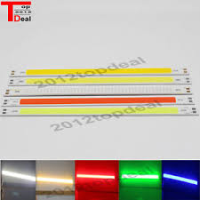 cob led light bar 200 x 10mm 10w 12v cob led light bar diode warm white red blue green