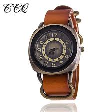 vintage leather bracelet watches images Vintage everyday leather wrist watch by ccq matching watch his jpg