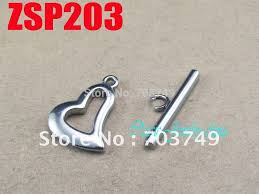 stainless steel necklace clasp images 25x3mm stick shape heart shaped stainless steel toggle bar jpg