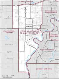 Edmonton Canada Map by Edmonton West Maps Corner Elections Canada Online